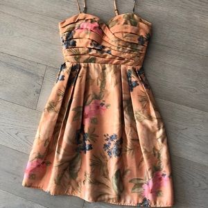 Anthropologie watercolor florals dress NWT